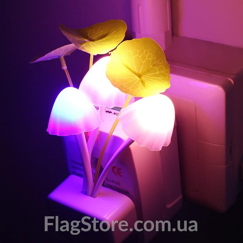 Ночной светильник в виде грибочков с датчиком освещения 2