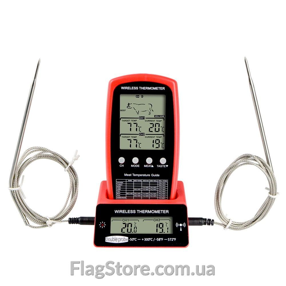 Беспроводной термометр с двумя выносными щупами 2