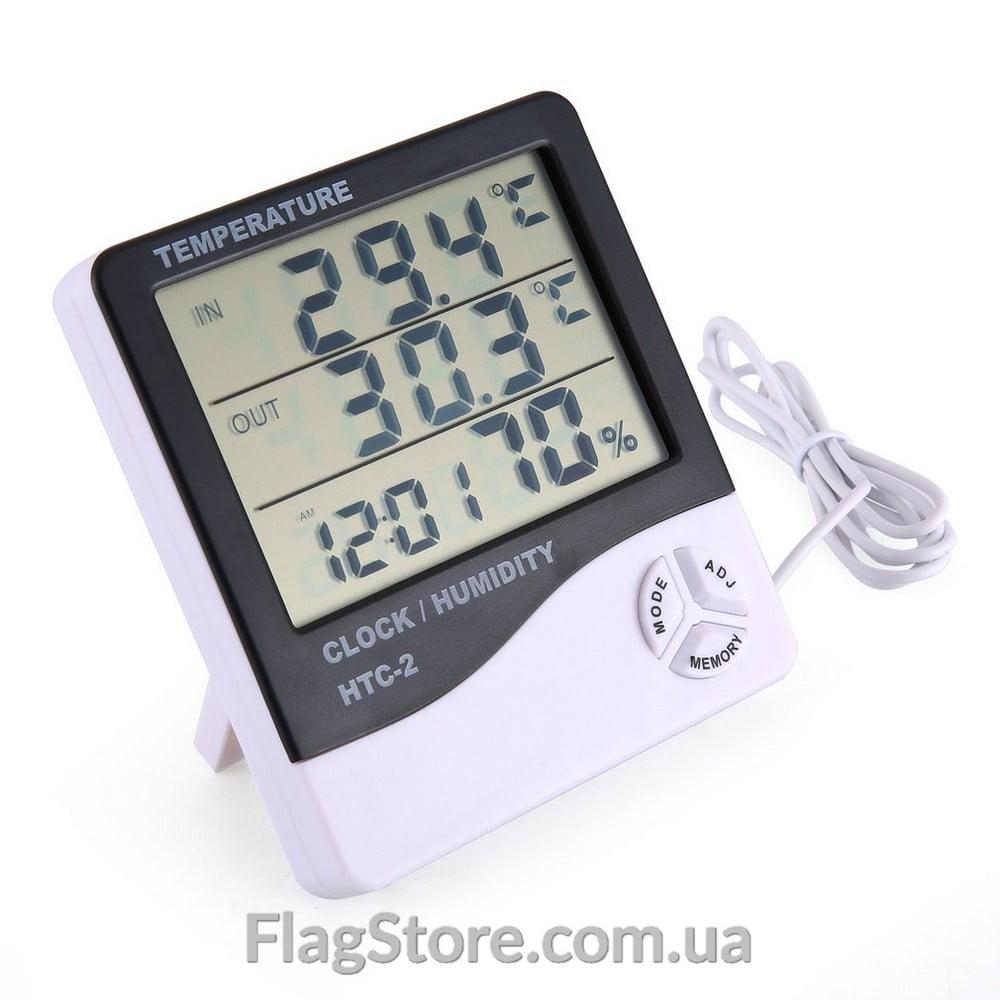 Домашний термометр-гигрометр HTC-2 с выносным зондом 4