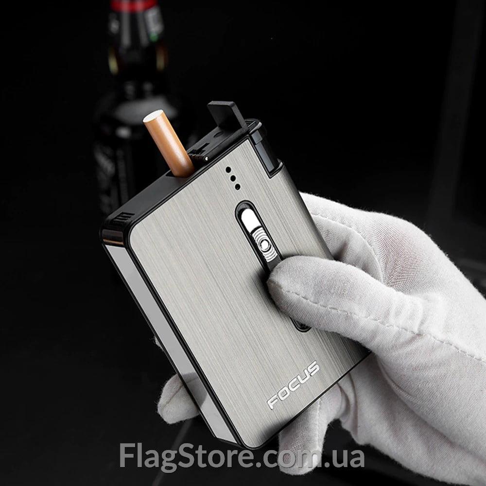 Портсигар с автоподачей сигарет и отсеком для зажигалки 3