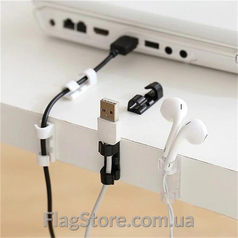 Комплект клейких зажимов для кабеля 5