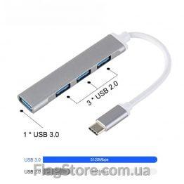 Type-C концентратор на 4 USB купить