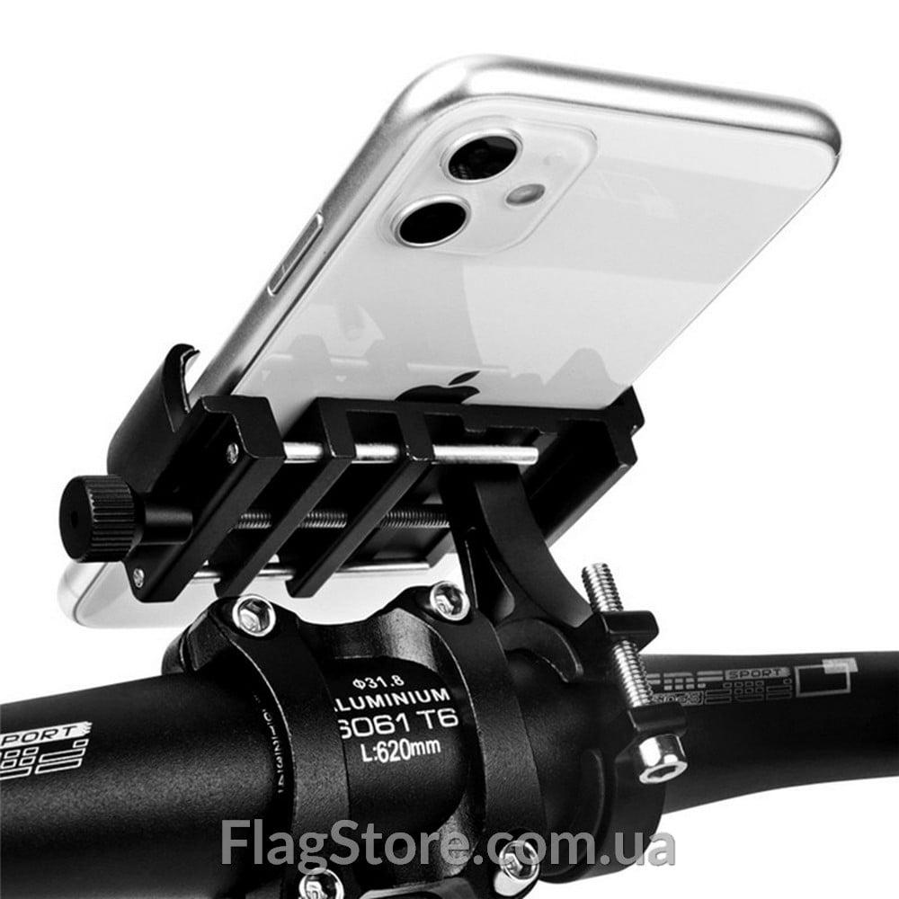 Металлическая рамка для смартфона на руль велосипеда 4