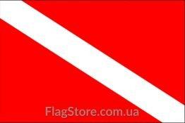 Купити прапор дайверів-аквалангістів та водолазів