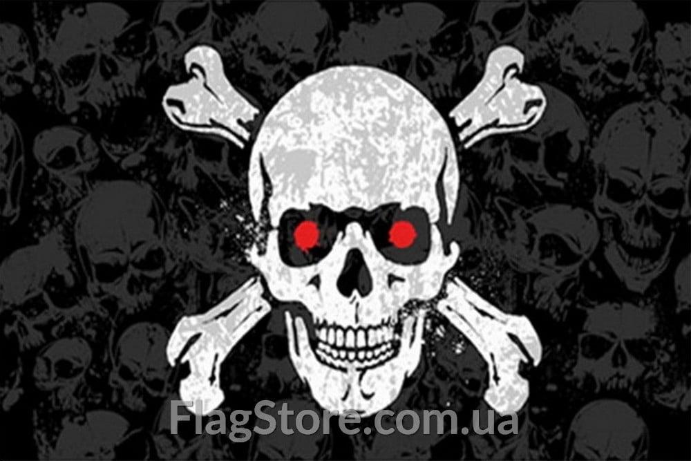 Купить флаг каперов череп с красными глазами 1