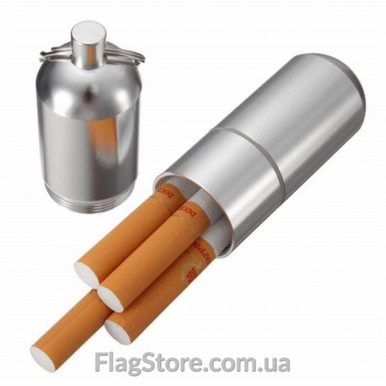 Металлический гермокейс-брелок для сигарет купить