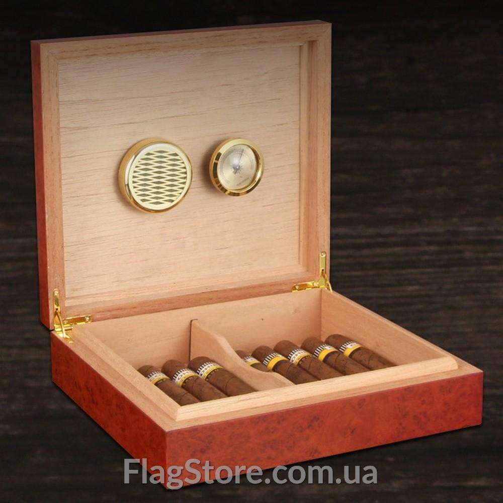 Сигарный кедровый хьюмидор с магнитной крышкой 13